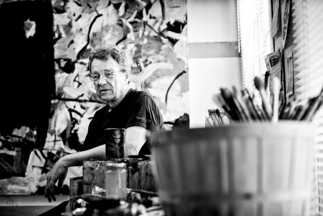 Tom Prochaska in his studio- photo by K. B. Dixon