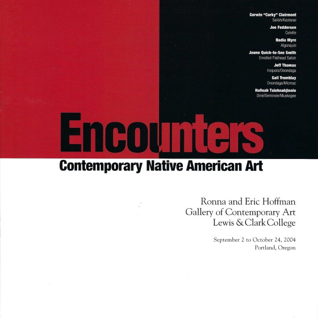 Encounters: Contemporary Native American Art , Exhibition Catalog, features Joe Feddersen and Gail Tremblay (2004)