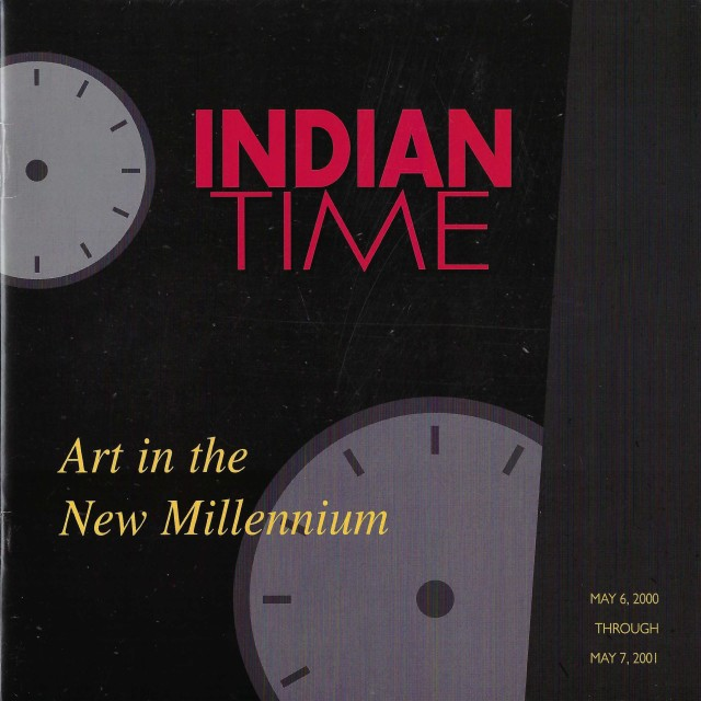 Cover image of exhibition catalogue, Indian Time: Art in the New Millennium (2000)