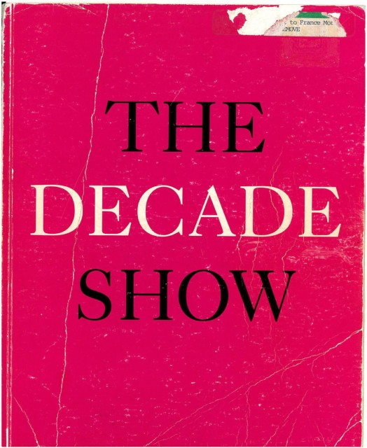 """Cover image of the exhibition catalogue, """"The Decade Show: Frameworks of Identity in the 1980s"""" (1990)"""
