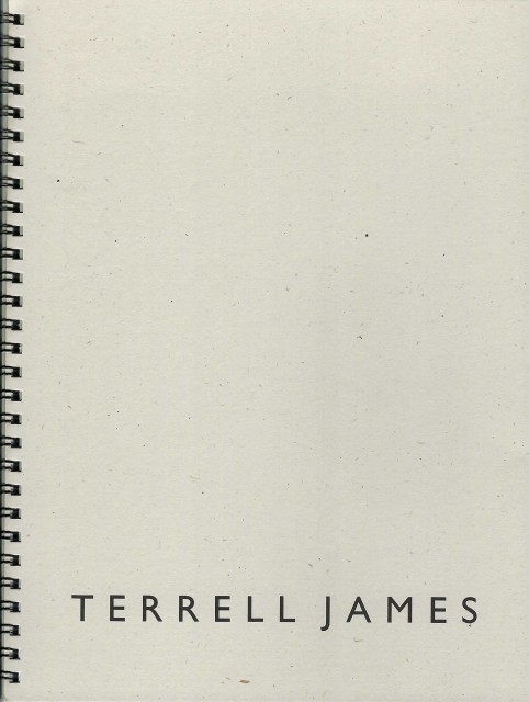 Cover of spiral bound softcover exhibition catalogue, Terrell James, Field Studies (2010)