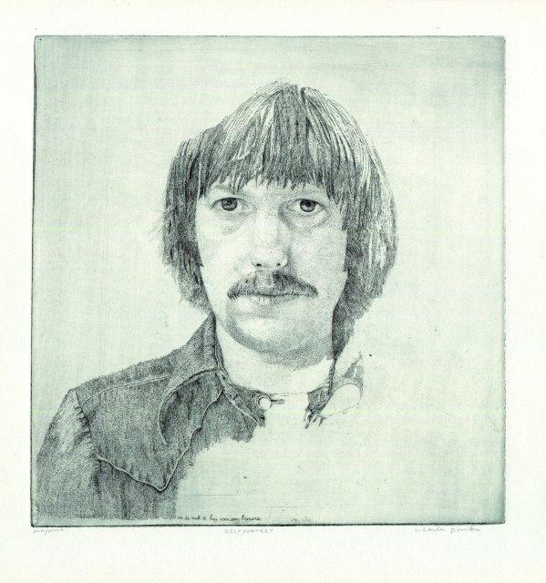Autoportrait. Ca. 1975. Eau-forte. Epreuve signée et numérotée 35/50