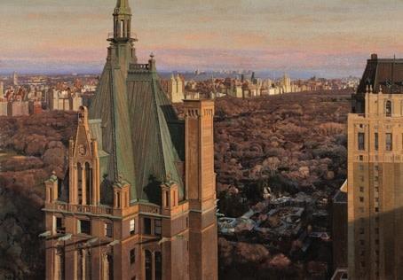 Jean-Baptiste Sécheret, New York 2011-2012, peinture à la colle sur papier marouflé sur toile, 209×300 cm, collection particulière, Paris.