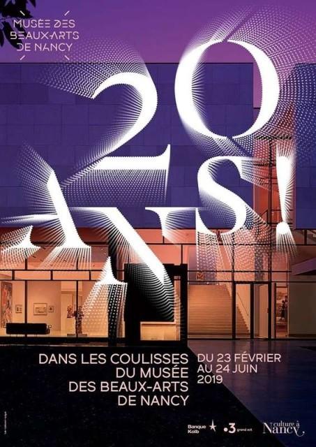 20 ans ! Dans les coulisses du musée des Beaux-Arts de Nancy