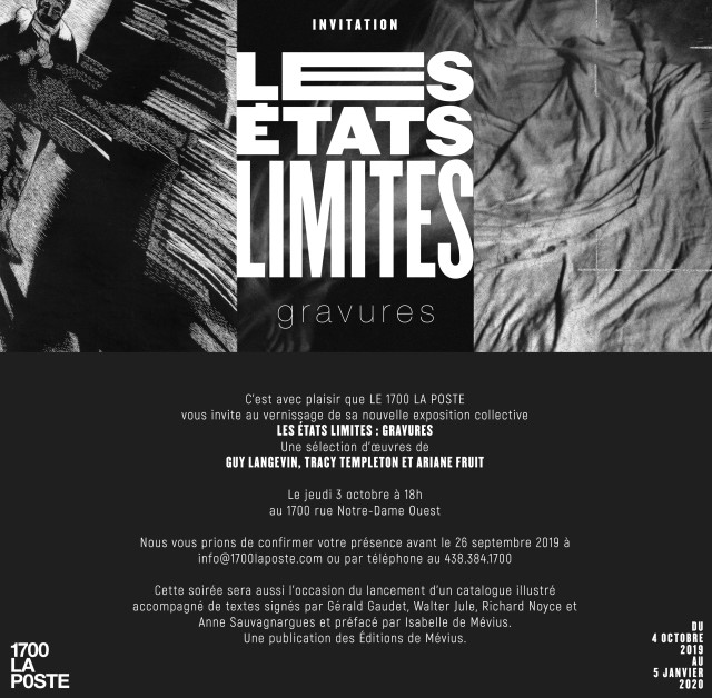 Les États limites : gravures. Ariane Fruit, Guy Langevin & Tracy Templeton