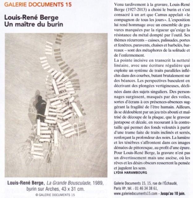 Louis-René Berge, La Grande Bousculade, 1989, burin sur Arches, 43 x 31 cm. @ Galerie Documents 15