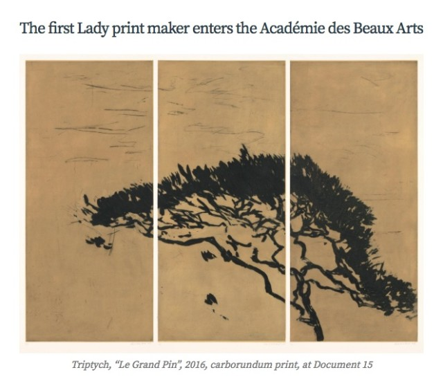 Astrid de La Forest, The first Lady printmaker to enter the Académie des Beaux Arts