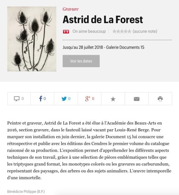 Astrid de La Forest - Chardons d'hiver, 2006, eau-forte et pointe sèche