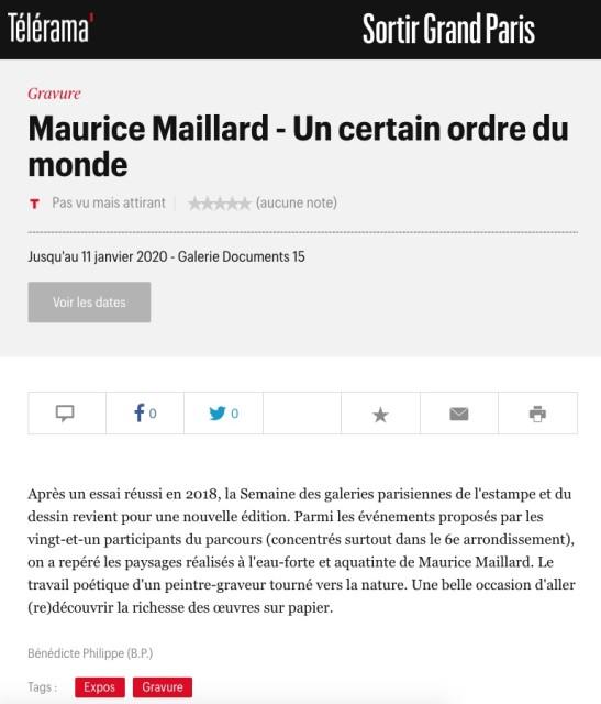 Maurice Maillard - Un certain ordre du monde