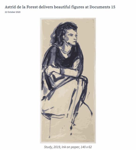 Astrid de la Forest delivers beautiful figures at Documents 15