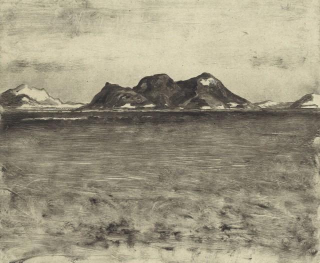 Atokos, 2017, monotype, 21 x 25 cm