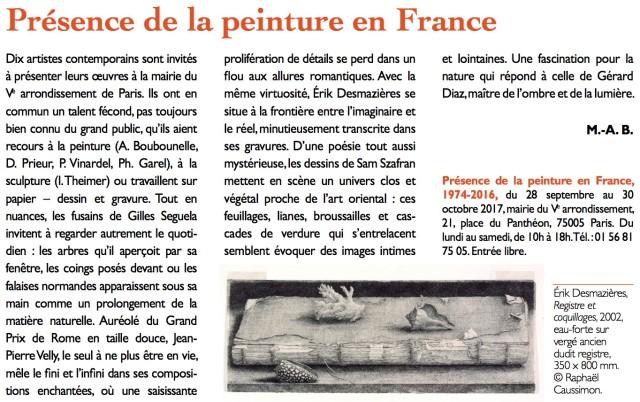 Article paru dans Arts et Métiers du Livre n°322, L'Actualité des expositions, Sept.-Oct. 2017
