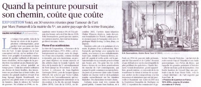 Article de Valérie Duponchelle paru dans Le Figaro le 29.09.2017