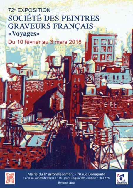 Affiche de la 72ème exposition de la société des peintres-graveurs