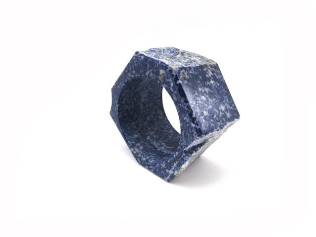 Bernhard Schobinger  Lapis bracelet I, 2016  Lapis Lazuli  ø 10 cm, h 6 cm