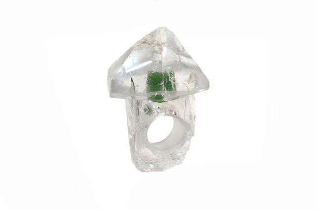 Bernhard Schobinger  Pilzring, 2016  Rock Crystal, Nephrite