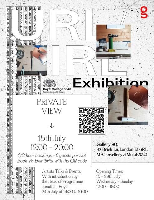 RCA Jewellery and Metal 2020 , Exhibition IRL/URL