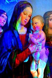 Annelies Štrba, Madonna 31, 2014, Pigmentdruck auf Papier, Besitz der Künstlerin