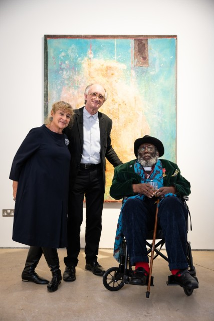 Michael Rowe, Frank Bowling and Corinne Julius photography by Stefano Padoan