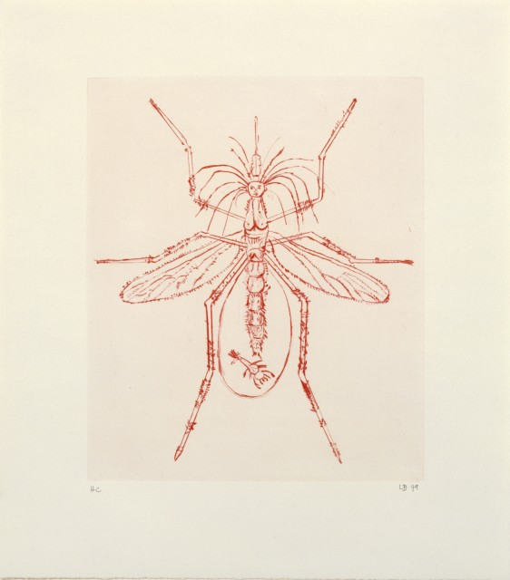 LOUISE BOURGEOIS: AUTOBIOGRAPHICAL PRINTS AND 11 DRYPOINTS, Image: Louise Bourgeois MOSQUITO, 1999 © The Easton Foundation/VAGA, New York/DACS, London 2017