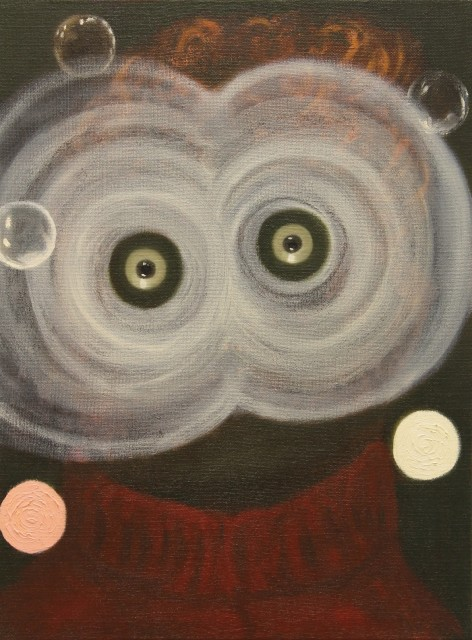 Kevin Mooney, Orbs, oil & varnish on jute, 80 x 60cm