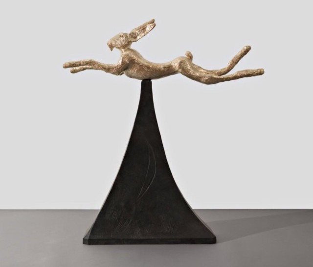 Barry Flanagan, Moon Gold Hare, 2008