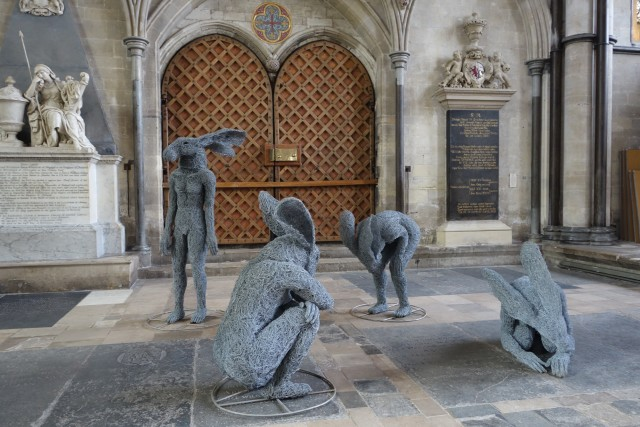 Sophie Ryder at Salisbury Cathedral, Relationships, 2016