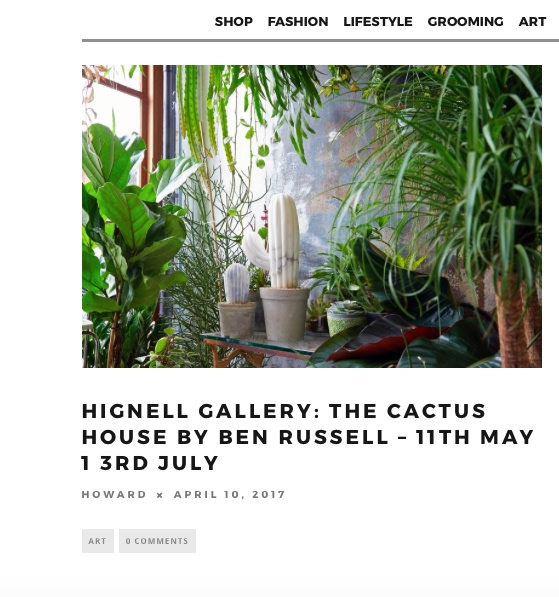 Hignell Gallery: The Cactus House by Ben Russell