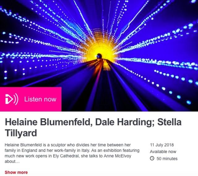 BBC Radio 3- Arts and Ideas: Helaine Blumenfeld