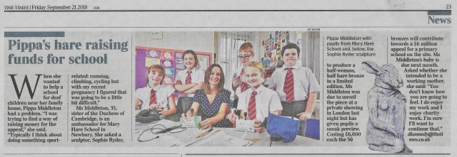Pippa's Hare Raising Funds for School