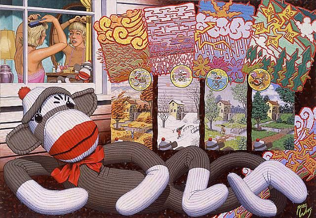 Robert Williams, The Four Seasons As Viewed Through The Eyes Of Jessica's Sock Monkey