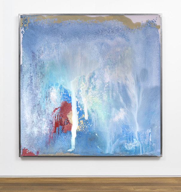 Kevin Harman Sea lost deflection, 2018 Household paint, double-glazing unit, steel frame 138.2 x 107.8 x 5.5 cm (framed)