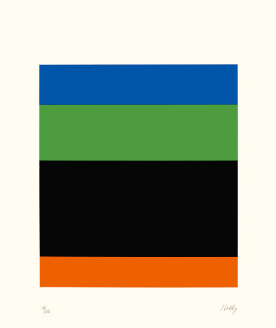 Blue Green Black Red 1971, lithograph on Arches Cover paper edition of 100, this edition 18/100 77.1 x 71 cm (framed size) Provenance: from the collection of Ellsworth Kelly