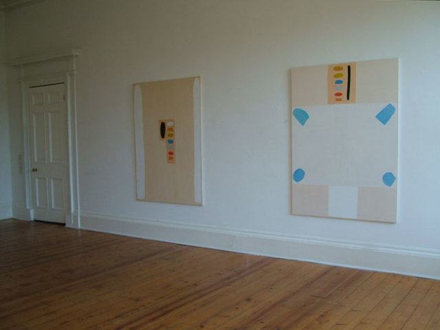 White Columns and Germanus of Auxerre 2004 acrylics on canvas 162cm x 117cm each