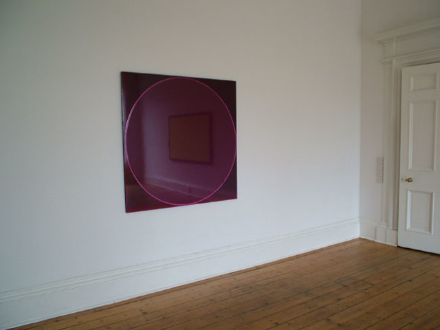 Untitled Circle Painting: Dark Purple / Magenta / Dark Purple 2005 household gloss paint on honeycomb aluminum panel 124cm x 124cm