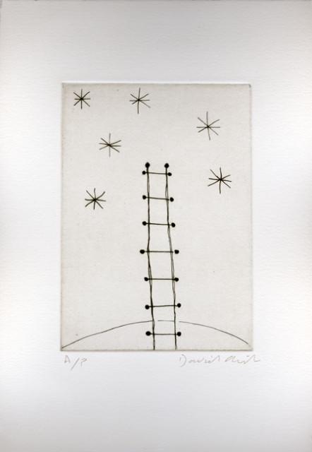 Tempest of Stars (ladder) 1992 etching, edition of 15 plus 1 AP 17.5 x 12.5 cm paper size £380 +vat framed