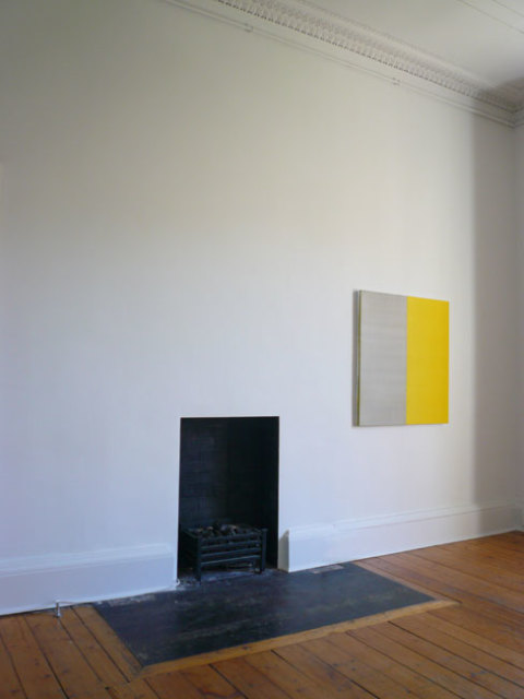 Callum Innes 'Untitled No. 3' installed at Ingleby Gallery, 2008