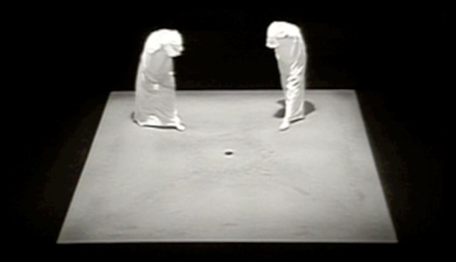 Still from 'Quad II' by Samuel Beckett (1981)