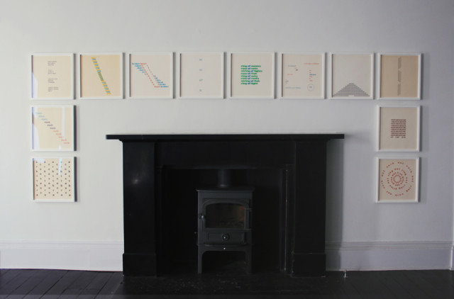 Installation view of the solo exhibition Ian Hamilton Finlay: early works (1958 - 1970)