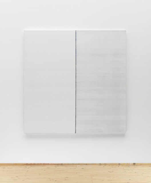 Callum Innes  Untitled White No 3, 2013 oil on linen 170 x 168 cm