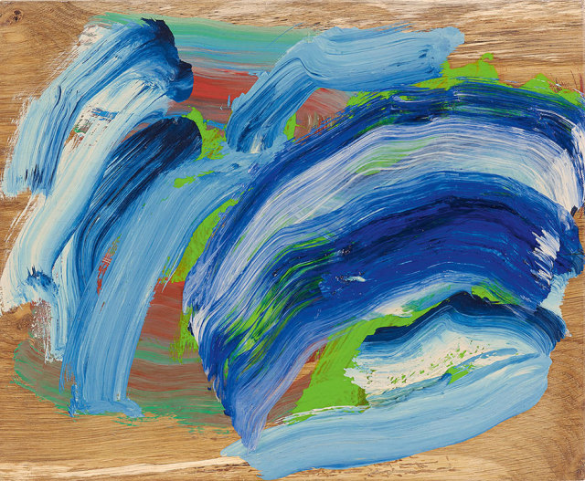 Howard Hodgkin Tide, 2015 - 2016 oil on wood 37.8 x 46 cm