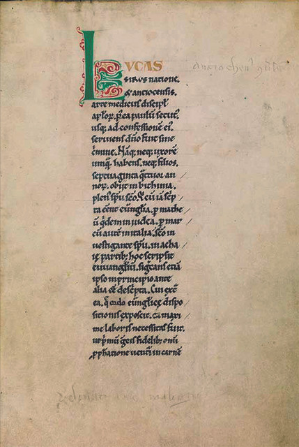and per se and: part XXV - Alexander Gorlizki & 12th C. Manuscript, Gospel of Luke