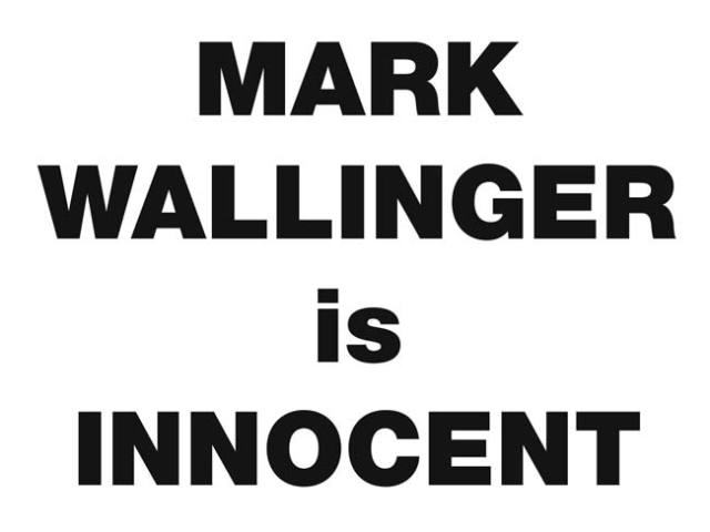 Mark Wallinger is Innocent 2008 two-colour screenprint on Fabriano Artistico 300gsm paper edition of 50 25.4 x 33.9cm (image size); 38.2 x 45.8cm (paper size)