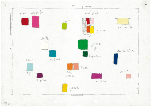 David Batchelor, King's Cross drawing, 2000, enamel paint and pencil on paper, 21 x 29.5 cm