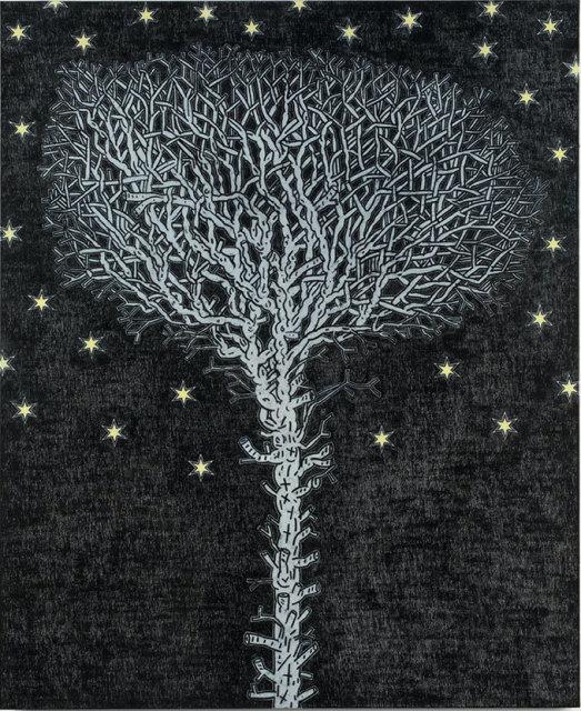 """David Austen, 'Tree at Midnight', 2014, oil on flax canvas, 66 × 54"""""""