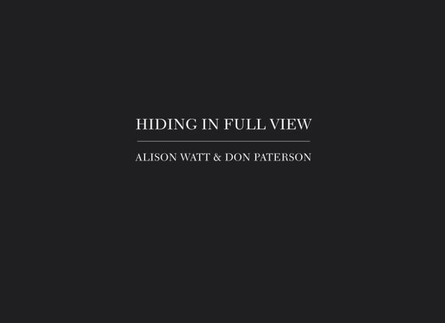 Alison Watt: Hiding in Full View