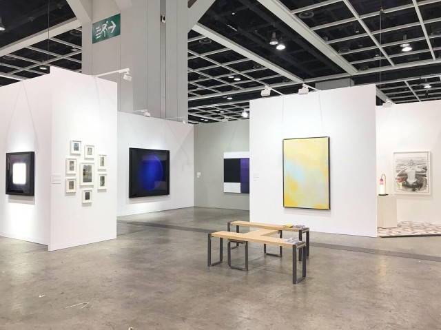 Installation of work installed at Art Basel Hong Kong