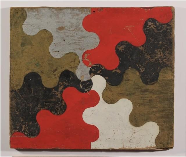 Frank Walter, Chivalry, oil paint on pine board, 26.5 x 31 cm