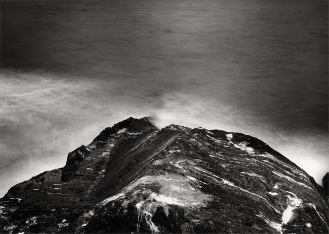 Thomas Joshua Cooper, Furthest North—The Barents Sea, Knivskjellodden, Finnmark, Norway, the North-Most Point of Continental Europe, 70°11.080´ N, 2003, selenium- and gold-toned chlorobromide gelatin silver print, 40 × 54 in., Collection Lannan Foundation, © Thomas Joshua Cooper, photo courtesy of the artist