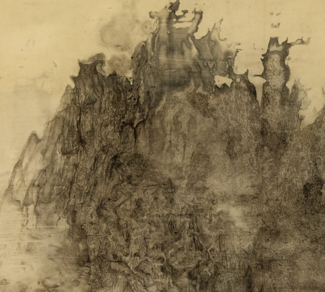 Bingyi, Apocalypse, 2011-2015, ink on silk, 2000 cm x 90 cm, detail. Copyright: the artist.